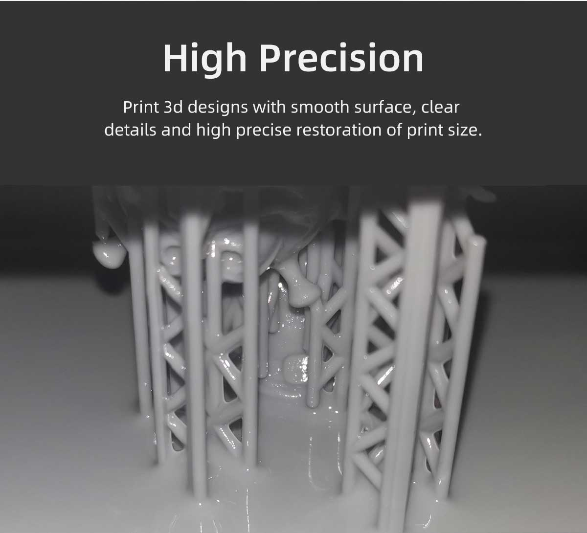 resin for high precision 3d prints | Voxelab